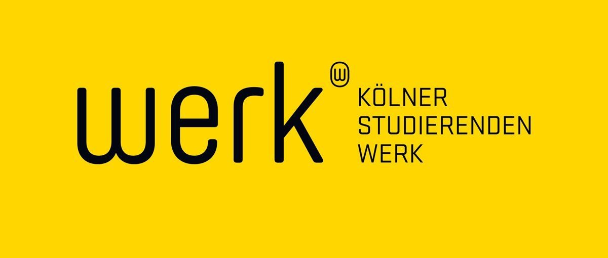 Schwarzer Schriftzug auf gelben Hintergrund.