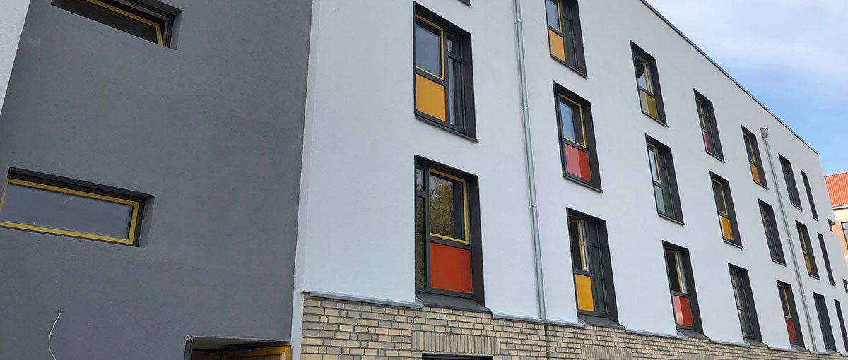das studierendenwerk düsseldorf hat in düsseldorf-derendorf eine neue wohnanlage eröffnet